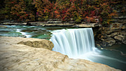 Cumberland River Framed Prints - Autumn at Cumberland Falls Framed Print by Jaki Miller