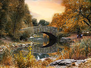 Gapstow Bridge Framed Prints - Autumn at Gapstow Bridge Framed Print by Jessica Jenney