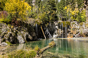 Fall Photos Framed Prints - Autumn At Hanging Lake Waterfall - Glenwood Canyon Colorado Framed Print by Brian Harig