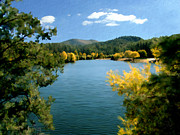 Prescott Digital Art Prints - Autumn at Lynx Lake Print by Kurt Van Wagner