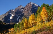 Reflection Prints - Autumn at Maroon Bells Print by Jetson Nguyen