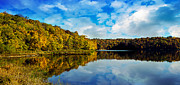 Autumn At Sailboat Cove Print by Andee Photography