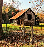 Barn Digital Art Originals - Autumn at the Homestead by Brittany Roth