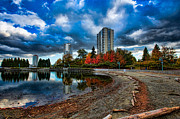 Autumn At The Lagoon Print by Mike Thompson