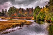 Lake Prints - Autumn at the Moose River Print by David Patterson