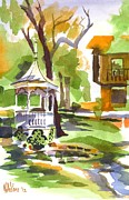 Color Green Originals - Autumn at the Rectory by Kip DeVore