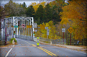 Changing Colors Prints - Autumn at Washingtons Crossing Bridge Print by Bill Cannon
