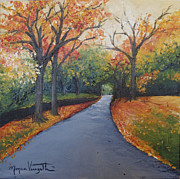 Autumn At Woodlawn Print by Monica Veraguth