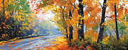 Foliage Paintings - Autumn Backlight by Graham Gercken