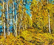Autumn Scenes Mixed Media Posters - Autumn beauty Poster by Dragica  Micki Fortuna