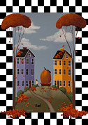 American Primitive Art Prints - Autumn Blaze Print by Catherine Holman
