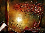 Wine Art Paintings - Autumn Blend Wine Art Painting by Leanne Laine