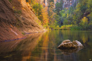 West Fork Oak Creek Canyon Posters - Autumn Bliss Poster by Peter Coskun