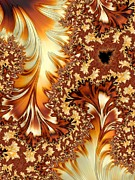 Harvest Art Digital Art Prints - Autumn Breezes Print by Heidi Smith