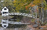 Somesville Photos - Autumn Bridge Reflections by Karin Pinkham