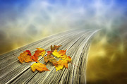 Photomanipulation Digital Art Prints - Autumn bridge Print by Veikko Suikkanen