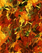 Digital Paintings Landscapes - Autumn Burst by David Lane