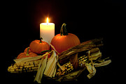 Cecil Fuselier Metal Prints - Autumn by Candle Light Metal Print by Cecil Fuselier