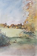 Rural Life Paintings - Autumn by Caroline Hervey-Bathurst