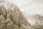 Autumn Print by Caspar David Friedrich