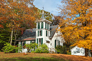 Autumn In New England Prints - Autumn Church Print by Bill  Wakeley