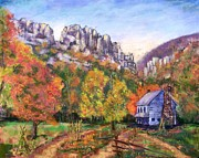 Climbing Pastels Posters - Autumn Color on Seneca Poster by Bruce Schrader