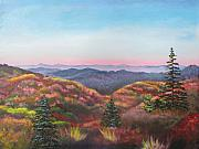 Blue Ridge Parkway Paintings - Autumn Colors by Eve  Wheeler
