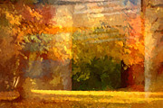 Late Mixed Media Posters - Autumn Colors Painterly Poster by Lutz Baar