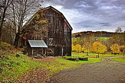 Pa Barns Posters - Autumn Country Barn Poster by Christina Rollo