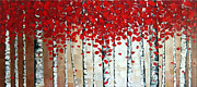 Palette Knife Reliefs Framed Prints - Autumn Framed Print by Denisa Laura Doltu