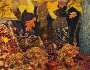 Piles Of Leaves Posters - Autumn Poster by Denise Mazzocco