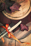 Setting Prints - Autumn Dining Print by Christopher and Amanda Elwell