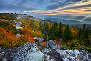 Bear Rocks Prints - Autumn Escape Print by Bernard Chen
