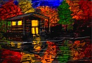 Posters On Digital Art - Autumn evening by Larry E  Lamb