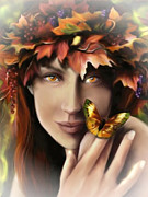 Pamela Phelps Framed Prints - Autumn Eyes Framed Print by Pamela Phelps