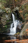 Waterfalls Prints - Autumn Fall Print by Bill  Wakeley