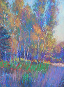 Impressionism Pastels Prints - Autumn Fantasy Print by Michael Camp
