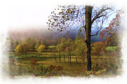 Autumn Scenes Metal Prints - Autumn Farm Metal Print by Debra and Dave Vanderlaan