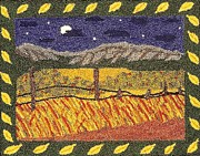 Autumn Landscape Tapestries - Textiles Prints - Autumn Fields Print by Jan Schlieper