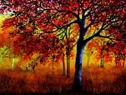 Kinkade Prints - Autumn Fire Print by Ann Marie Bone
