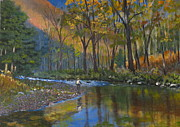 Patrick Paintings - Autumn Fly Fishing by Patrick ODriscoll