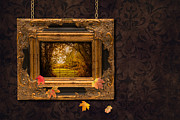 Gold Chain Posters - Autumn Frame Poster by Christopher and Amanda Elwell