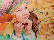 Eyes Details Drawings - Autumn Girl by Natasha Denger