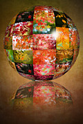 Digitally Altered Floral Posters - Autumn Globe Poster by Jacky Parker