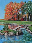 Park Paintings - Autumn Glory at the Arboretum by Penny Birch-Williams