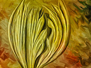 Fronds Paintings - Autumn Glory by Brenda Bryant