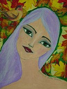 Demeter Prints - Autumn Goddess Print by Marie Tucker