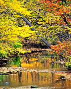 Water Flowing Photo Prints - Autumn Gods glory Print by Robert Harmon