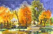Villa Painting Originals - Autumn Gold by Kip DeVore