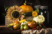 Old World Metal Prints - Autumn Harvest Metal Print by Edward Fielding